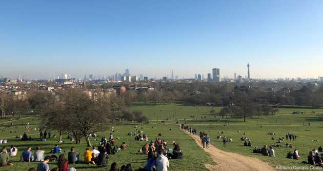 Primrose Hill - vista de Londres